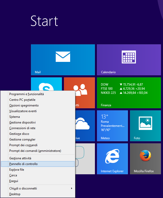 Windows 8 - WIN+X